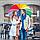 КАЧЕСТВЕННЫЙ женский зонт / Зонт Радуга / Парасоля жіноча різнобарвна, фото 9