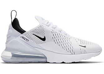 Мужские кроссовки Nike Air Max 270 White Black Белые