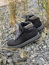 Підліткові кросівки шкіряні зимові чорні Splinter Boy 2718/1 Waterproof