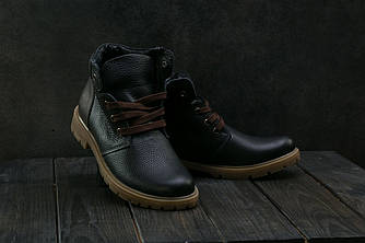 Підліткові черевики шкіряні зимові чорні Braxton 397 f