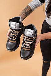 Подростковые ботинки кожаные зимние черные CrosSAV 328