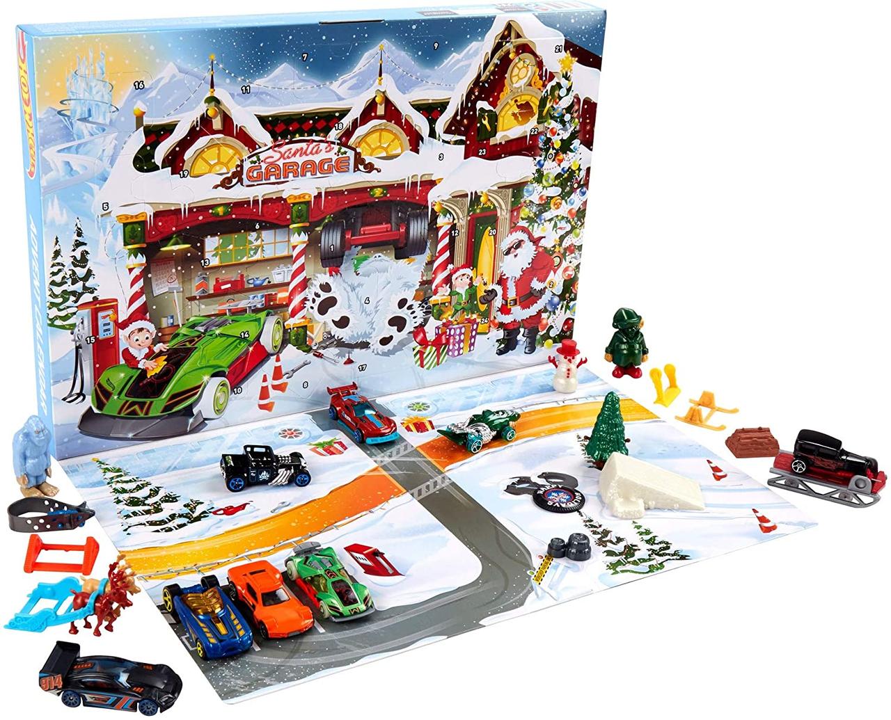 Рождественский календарь Hot Wheels 2020. Новогодний Адвент календарь Хот Вилс