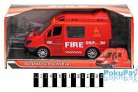 Пожежна машина інерц. (відкрив.двері, муз. зі світлом, коробка) 367-4 р.29*13*11,5см, шт