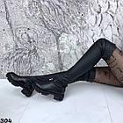 Зимові жіночі чорні ботфорти, натуральна шкіра, фото 6