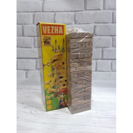 """Джанга - настільна гра """"Вежа"""", дерев'яна гра дженга 8835 1210"""