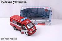 RUS Автобус PLAY SMART 9098-A пожарка инерц.муз.свет.откр.дв.кор.21,5*11*11,5 /24/, шт