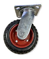 Колесо большегрузное 150 мм. литая резина, поворотный кронштейн