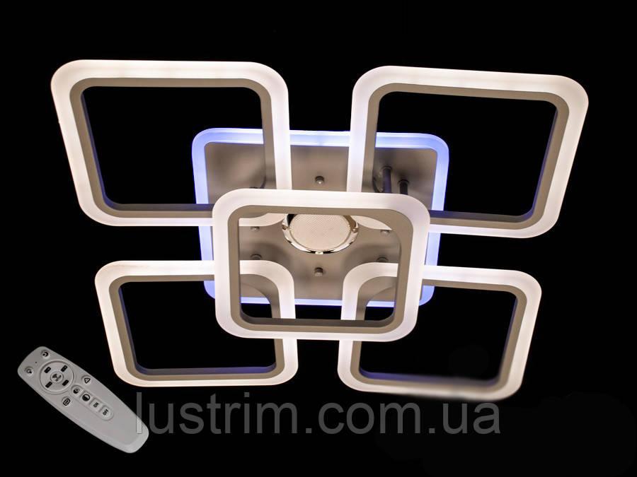 Светодиодная люстра с диммером, подсветкой и MP3, 125W