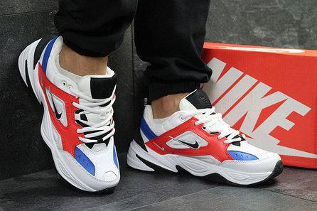 Кроссовки мужские Nike Air Monarch M2K Tekno White Blue Red Белые