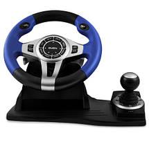 Игровой Руль и Педали для ПК Sven GC-W600, приставка-руль с педалями и коробкой передач, фото 3