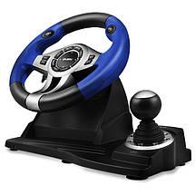 Игровой Руль и Педали для ПК Sven GC-W600, приставка-руль с педалями и коробкой передач, фото 2