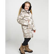 Дитячий зимовий комбінезон для дівчинки на флісі Уляна   розміри 122 по 164, фото 2