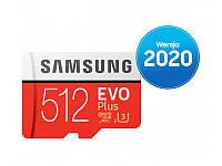 Samsung 512 GB microSDXC Class 10 UHS-I U3 EVO Plus + SD Adapter MB-MC512HA/EU, фото 1