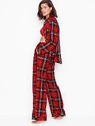 Фланелева Піжама Victoria's Secret Flannel PJ Set, Червона в клітку