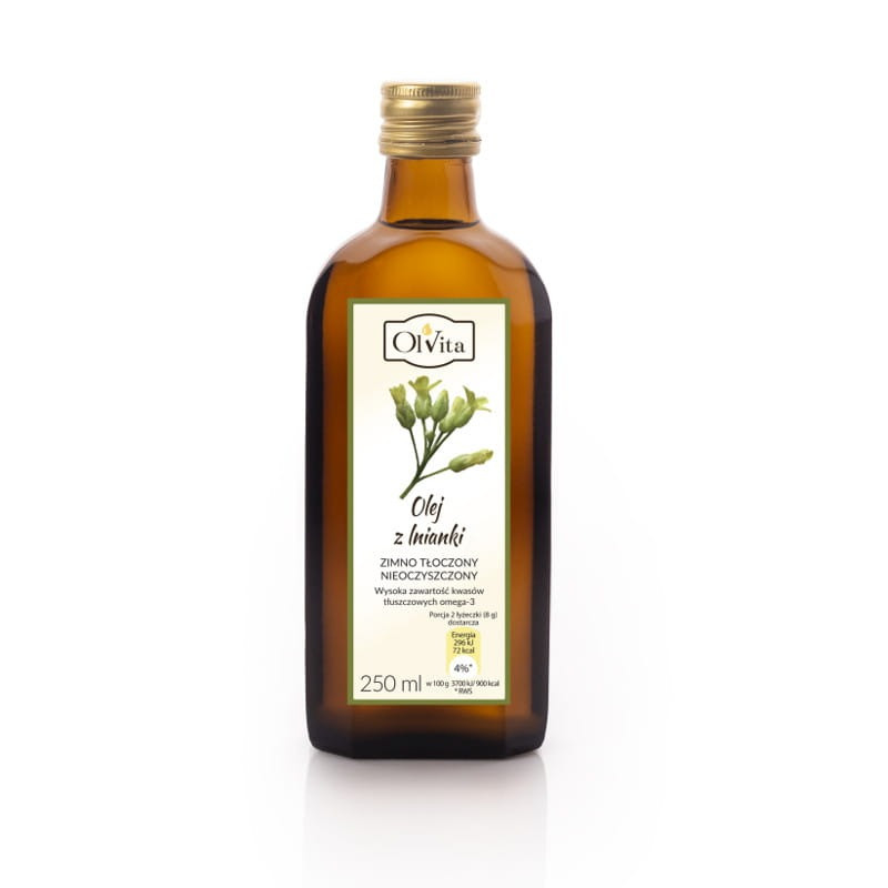 Рыжиковое масло из семян рыжика посевного (Camelina sativa) 250 мл, Olvita