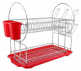 Сушка для посуду Con Brio CB-853 - 2 рівня | кухонні сушарка для посуду Con Brio