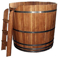 Купель дубовая круглая BentWood высота 1 метр диаметр 100 см
