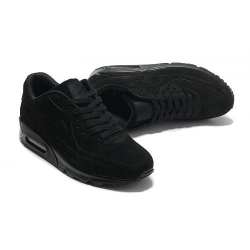 Кроссовки Nike Air Max 90 VT Black Черные женские Замш