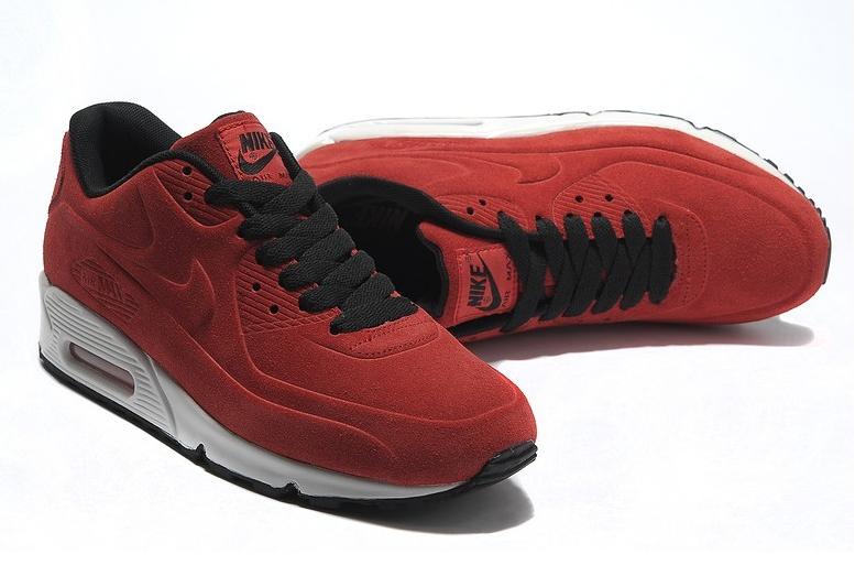 Кроссовки Nike Air Max 90 VT Red Красные женские Замш