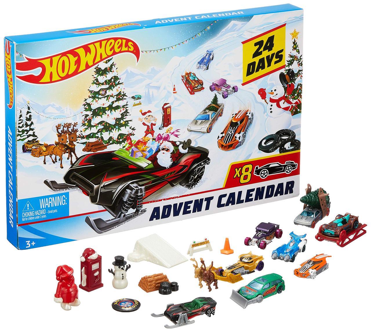Різдвяний календар Hot Wheels 2019. Новогодний Адвент календарь Хот Вилс , Hot Wheels рождественский календарь