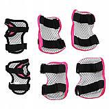 Защита детская для роликов, скейта, велосипеда, самоката SportVida SV-KY0006-M размер M Black/Pink, фото 2