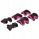 Защита детская для роликов, скейта, велосипеда, самоката SportVida SV-KY0006-M размер M Black/Pink, фото 4