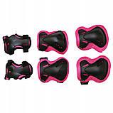 Защита детская для роликов, скейта, велосипеда, самоката SportVida SV-KY0006-M размер M Black/Pink, фото 6