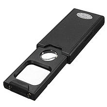 Лупа выдвижная Magnifier MG9582 с Led подсв + UV, 5X диам 30мм + 45Х диам 21мм