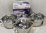 Набор кухонной посуды Bohmann ВН 71242-6 6 предметов 3 кастрюли с крышками, фото 2