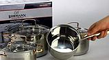 Набір кухонного посуду Bohmann ВН 71908 8 предметів 3 каструлі та ковші з кришками, фото 4