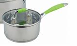 Набір кухонного посуду Con Brio CB-1150 6 предметів 2 каструлі з кришками ківш, фото 3