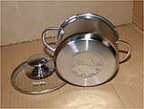 Каструля з кришкою з нержавіючої сталі Con Brio CB-1112 (5.0 л)   набір посуду Con Brio   каструлі Con Brio, фото 3