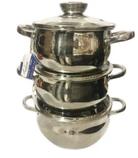 Набір кухонного посуду Bohmann ВН 70513 6 предметів 3 каструлі з кришками, фото 2