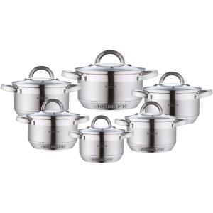 Набор кухонной посуды Bohmann ВН 70717 12 предметов 6 кастрюль с крышками