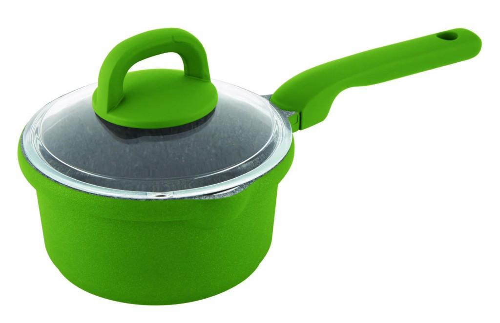 Ківш з кришкою з алюмінію Con Brio CB-1627 (1.4 л) | сотейник Con Brio | кухлик Con Brio | зелений