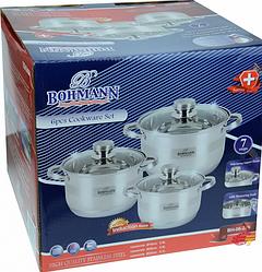 Набор кухонной посуды Bohmann ВН 06-275 6 предметов 3 кастрюли с крышками