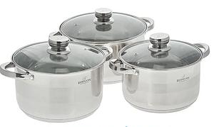 Набор кухонной посуды Bohmann ВН 706-375 6 предметов 3 кастрюли с крышками
