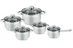 Набор кухонной посуды Bohmann ВН 1275-10 10 предметов 4 кастрюли и ковш с крышками