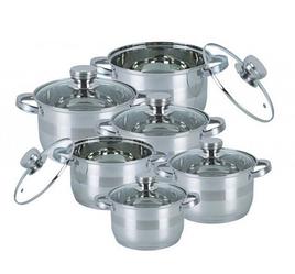 Набор кухонной посуды Bohmann ВН 71275 N 12 предметов 6 кастрюль с крышками