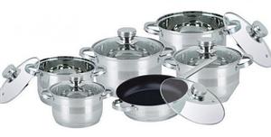 Набор кухонной посуды Bohmann ВН 71275 MRB 12 предметов с крышками 5 кастрюль и сковорода