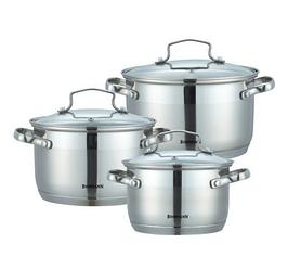 Набор кухонной посуды Bohmann ВН 71906 6 предметов 3 кастрюли с крышками