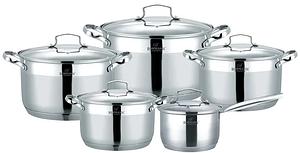 Набор кухонной посуды Bohmann ВН 71912-10 10 предметов 4 кастрюли ковш с крышками