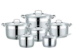 Набор кухонной посуды Bohmann ВН 71912-12 12 предметов 5 кастрюль ковш с крышками