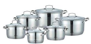 Набор кухонной посуды Bohmann ВН 71912 12 предметов 6 кастрюль с крышками
