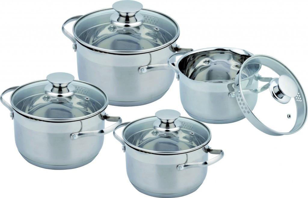 Набір кухонного посуду Con Brio CB-1159 8 предмету 4 каструлі з кришками