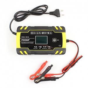 FOXSUR FBC122408D импульсно автоматическое зарядное устройство для авто, мото,лодочных аккумуляторов 12-24V 8А