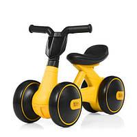 Детская каталка-толокар мотоцикл Bambi M 4086-6, желтый