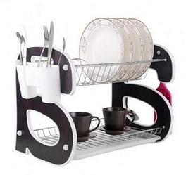 Сушарка для посуду Bohmann ВН 77318 двоярусне   Стійка для зберігання посуду 2 полиці