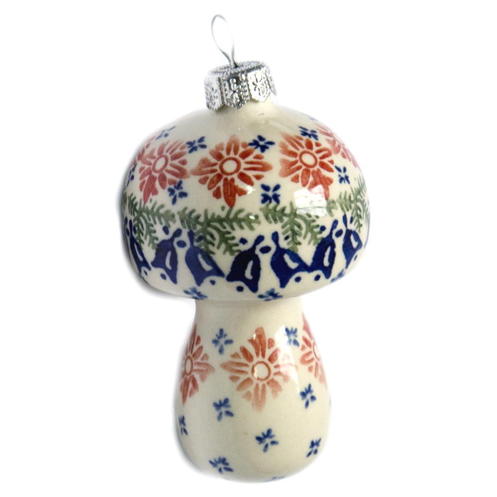 Ёлочная игрушка керамическая Гриб