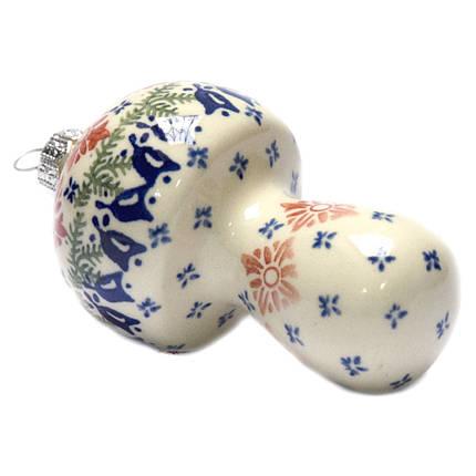 Ёлочная игрушка керамическая Гриб, фото 2